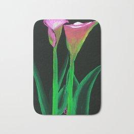 Pink Calla Lilies Art Print Bath Mat