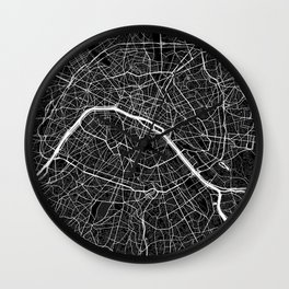 Paris - Minimalist City Map Wall Clock