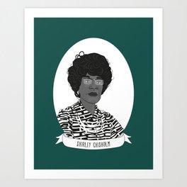 Shirley Chisholm Illustrated Portrait Art Print