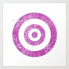Target of desire - pink Art Print