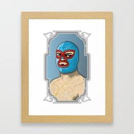 nacho libre, el campeon! Framed Art Print