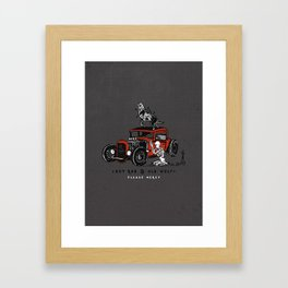 Hotrod & Old Wolf Framed Art Print