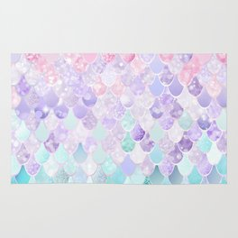 Mermaid Pastel Iridescent Rug