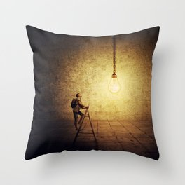idea achievement Throw Pillow