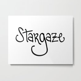 Stargaze Letterform and Geometric Constellation Metal Print