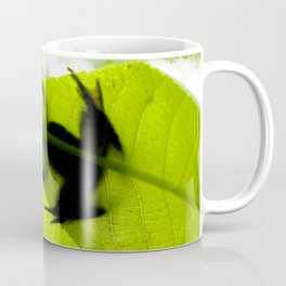 Watercolor Frog, Cricket Frog 01, Eno River, North Carolina, Silhouetted Leaper Coffee Mug