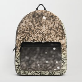 Sparkling GOLD BLACK Lady Glitter #2 #decor #art #society6 Backpack