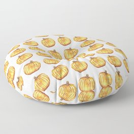 Halloween Pumpkin Watercolor Pattern Floor Pillow