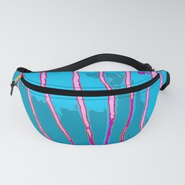 Blue Bongo Stripes Fanny Pack