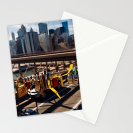Lovelock On Brooklyn Bridge, New York 2015 Stationery Cards