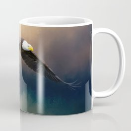 Painting flying american bald eagle Coffee Mug