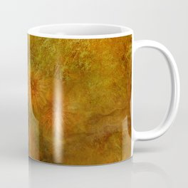 """Golden Manila Flowers"" Coffee Mug"