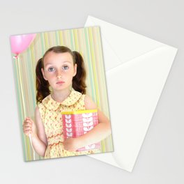 Girl with Balloon Stationery Cards