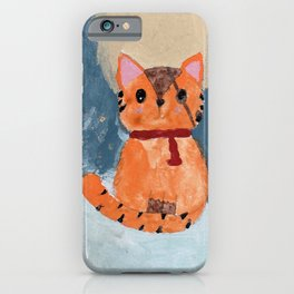 Natali's tiger kitty with pirate eye bandage, a promise to my daughter iPhone Case