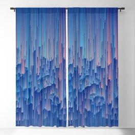 Glitchy Rain - Abstract Digital Piece Blackout Curtain