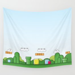 World of Mario Wall Tapestry