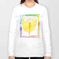 angel wings Long Sleeve T-shirts featuring Angel Wings  by ChristiaSoulArt