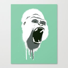 Gorilla Head Canvas Print
