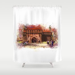Barbican, Cracow Shower Curtain