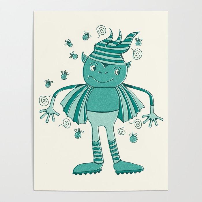 Robot Alien Monster No 305 Poster