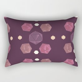 Red and Purple DnD Dice Rectangular Pillow
