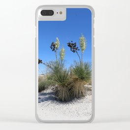 White Sands Dune With Soap Yucca Clear iPhone Case
