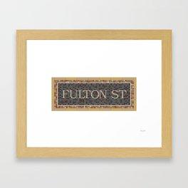 Fulton Street Framed Art Print