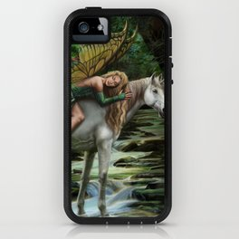 Sleeping Fairy on Unicorn iPhone Case