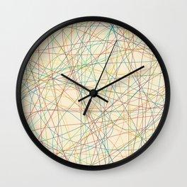 Retro Cholored Line Chaos Wall Clock