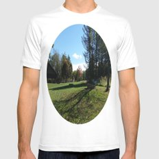 The long shadows at the park  Mens Fitted Tee MEDIUM White