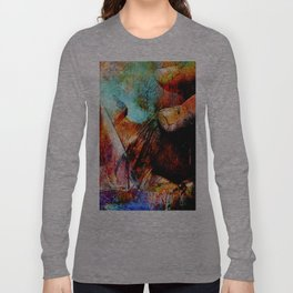 La Barca ( collaboration with the talented artist Agostino Lo coco) Long Sleeve T-shirt