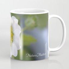 white strawberry flower. floral photo art. Mug