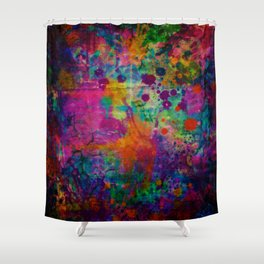 colorful canvas i Shower Curtain