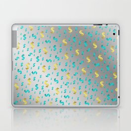 gold,blue silver metal dollar Laptop & iPad Skin