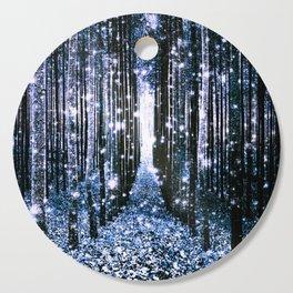Magical Forest Dark Blue Elegance Cutting Board