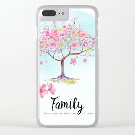 Family pink Clear iPhone Case