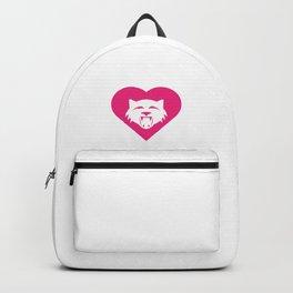 Wildcat Mascot Cares Pink Backpack