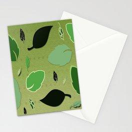 Olivine Leaves Stationery Cards