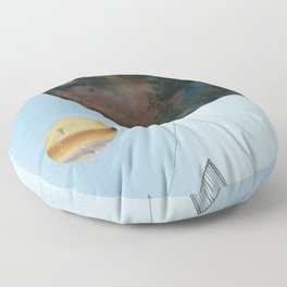 Moons and Mountains Floor Pillow