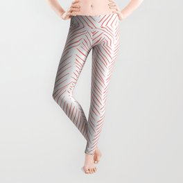 Living Coral Herringbone Leggings