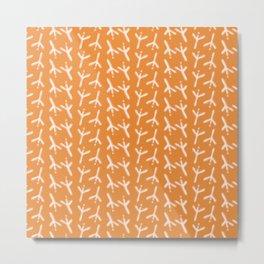 Simple Bird Footprints Pattern Metal Print
