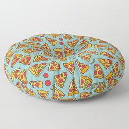Funny pizza pattern Floor Pillow