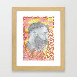 Balance between worlds Framed Art Print