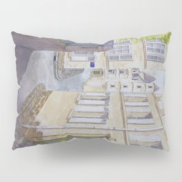 Narrow streets in Chinons old town (France) Pillow Sham