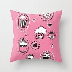 Cupcakes! Throw Pillow