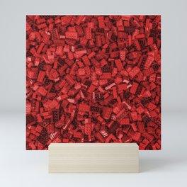 Master builder red Mini Art Print