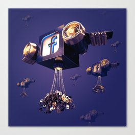 Facebook Account Delivery Canvas Print