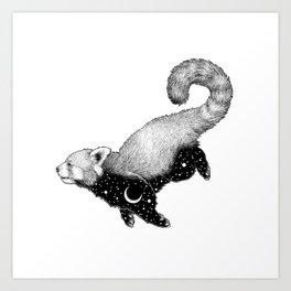 Astral Creature: Red Panda Art Print