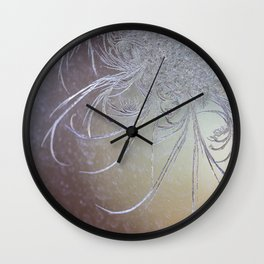 Jack Frost Etching on my Window  Wall Clock