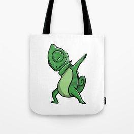 Funny Dabbing Chameleon Reptile Pet Dab Dance Tote Bag